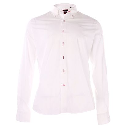 Pánska biela bavlnená košeľa 7camicie s potlačou