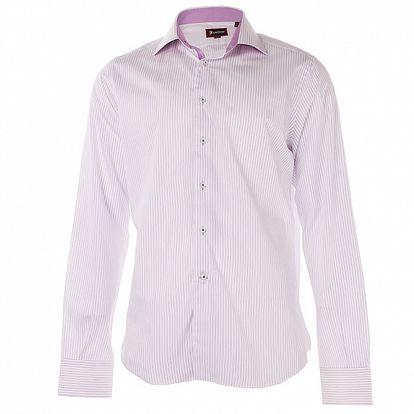 Pánska svetlo fialová prúžkovaná košeľa 7camicie
