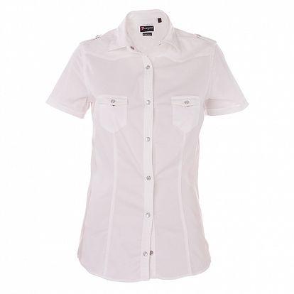 Dámska biela košeľa 7camicie s patentkami