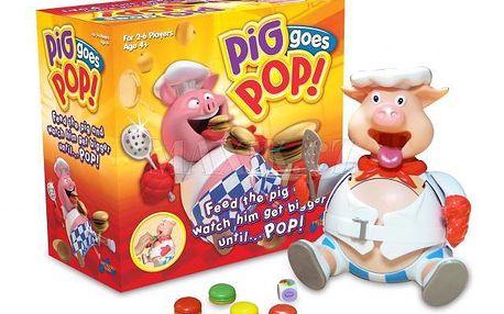 Piggy Pop společenská hra pro děti Hasbro. Díky plastelíně ve hře můžete dokonale využít i svou fantazii.