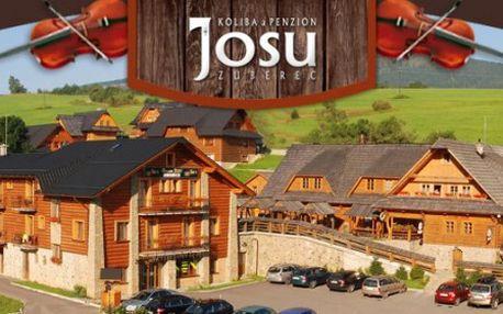 Zažite skvelý 3-DŇOVÝ wellness pobyt pre 2 osoby s raňajkami v KOLIBE JOSU v Zuberci!