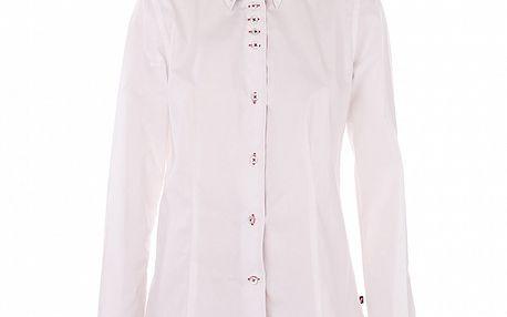 Dámska biela košeľa 7camicie s kockovanou légou