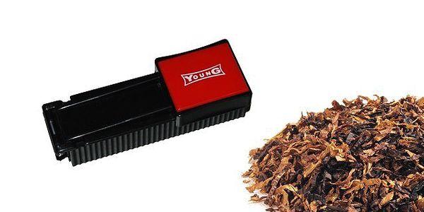 YOUNG profi plnička dutiniek vlastným tabakom, urobte si vlastný cigarety podľa chuti a nálady a ušetrite za kupovanie drahých cigariet!