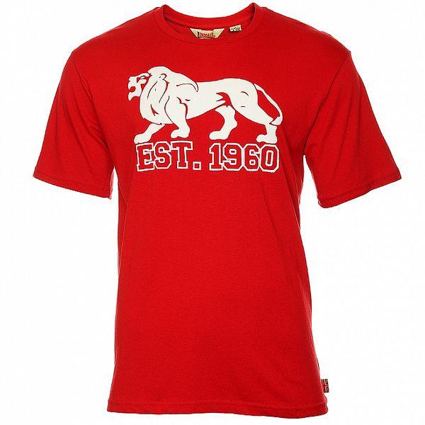 Pánske červené tričko s krátkym rukávom Lonsdale