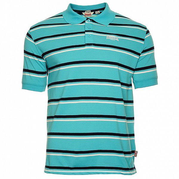 Pánske svetlo modré pruhované pólo tričko Lonsdale