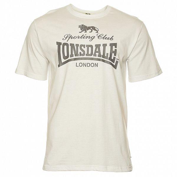 Pánské bílé tričko s potiskem Lonsdale