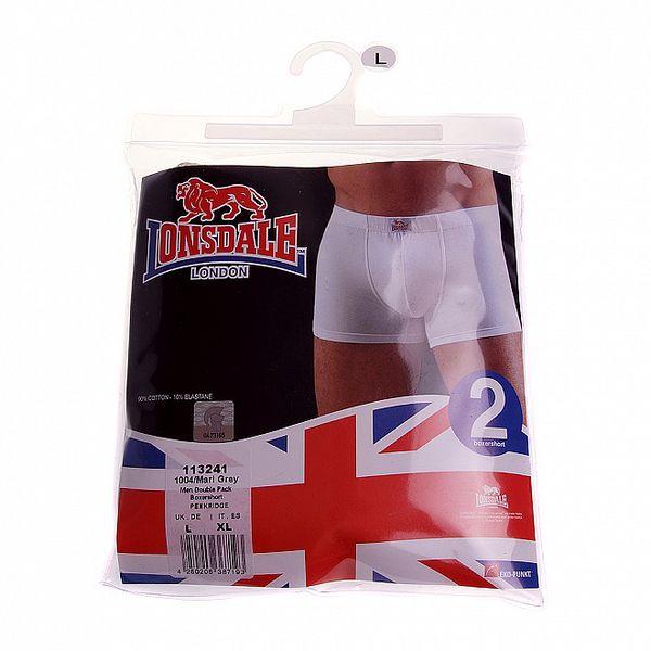 Set dvou pánských světle šedých boxerek Lonsdale