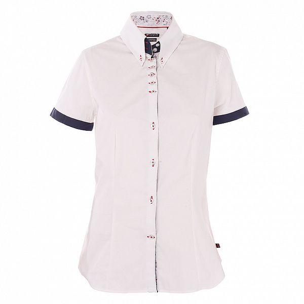 Dámská bílá košile 7camicie s kytičkovanou légou