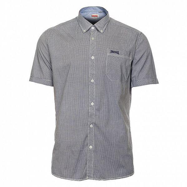 Pánská modro-bíle kostkovaná košile Lonsdale