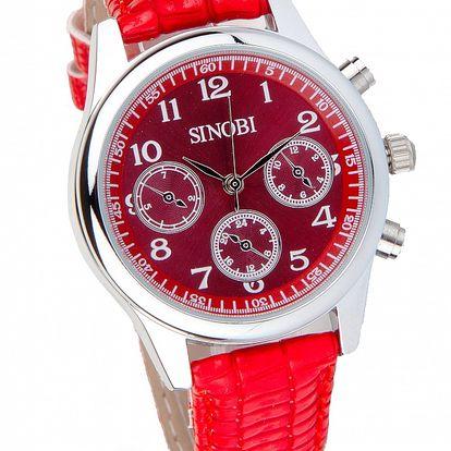 Dámske červené hodinky Bague a Dames