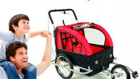 Přívěsný vozík za kolo pro 2 osoby!