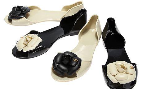 Dámské sandálky zdobené květinou - na výběr ze 2 barev a poštovné ZDARMA! - 109