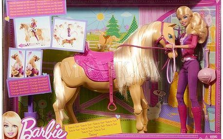 BARBIE X2630 Panenka a chodící kůň