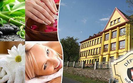 Šumava pro dva na 3 dny ve Wellness & Sport Hotelu JAS se snídaněmi. Aromaterapie, detoxikační zábal, parafínová lázeň rukou, kosmetická maska, relaxace v solné jeskyni a slámové posteli! Navíc karafa sudového moravského vína!