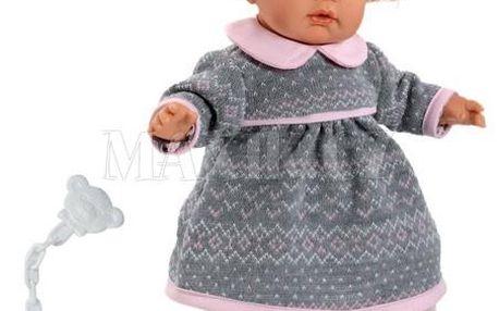 Zvuková panenka s měkkým látkovým tělem a s vlásky Llorens Joelle Llorona 38252
