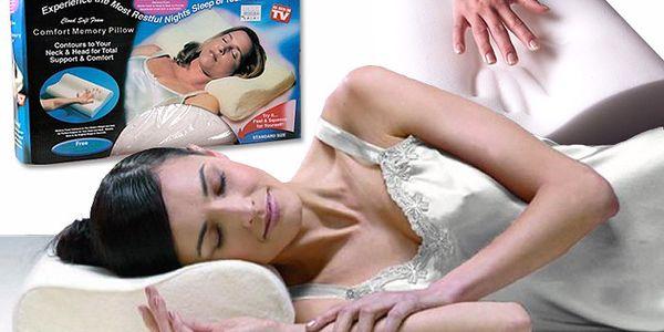 Anatomický polštář Memory Pillow s paměťovou pěnou pro pohodlný spánek