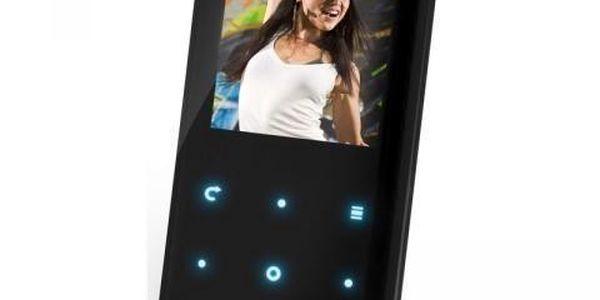 SENCOR SFP 5660 B 4GB+FM černý - MP3/MP4 přehrávač s kapacitou 4GB a FM rádiem.