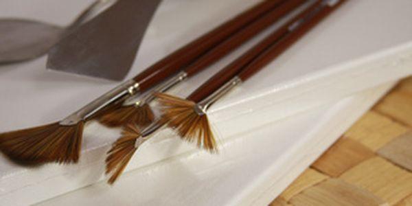 Lekce olejomalby - technika malby špachtlí a štětcem