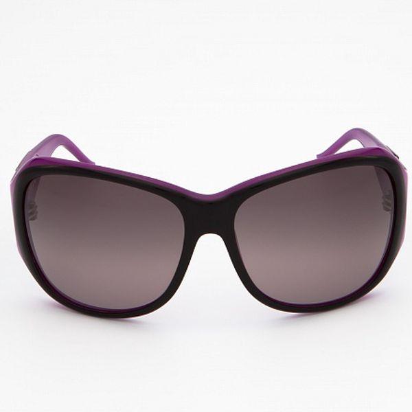 Dámské černo-fialové sluneční brýle Just Cavalli