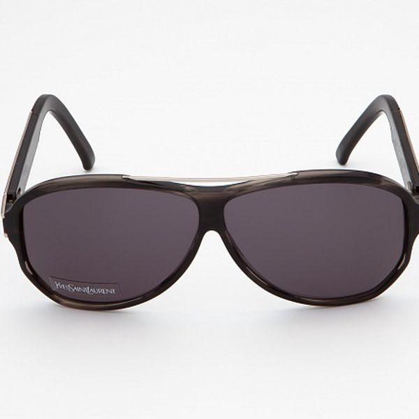 Dámské černošedé sluneční brýle Yves Saint Laurent