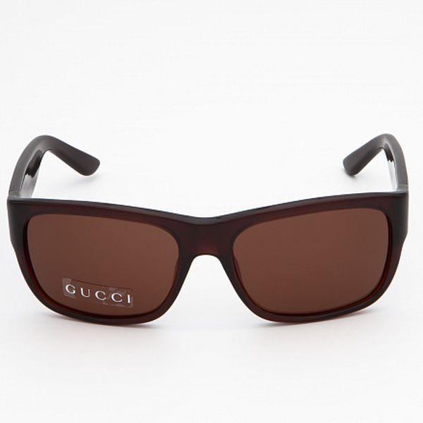 Dámské hnědé sluneční brýle Gucci