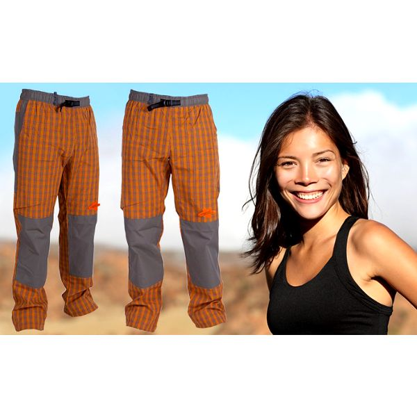Dámské pohodlné sportovní kalhoty značky Neverest v oranžové barevě