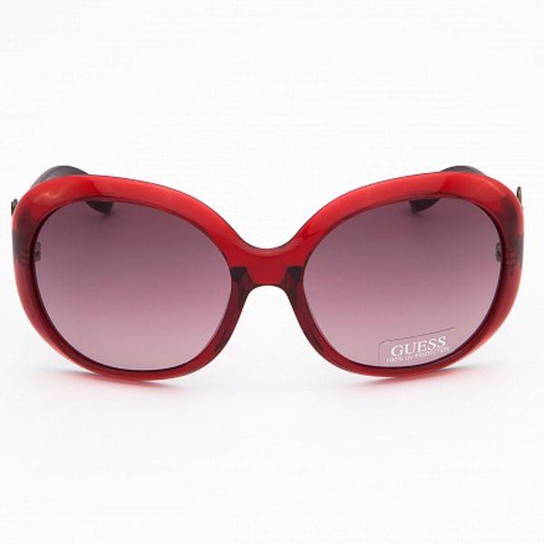 Dámske červeno-fialové slnečné okuliare Guess
