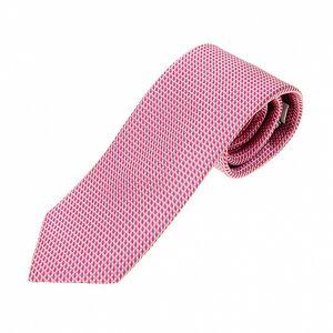 Pánská růžová hedvábná kravata Ballantyne s jemným vzorem
