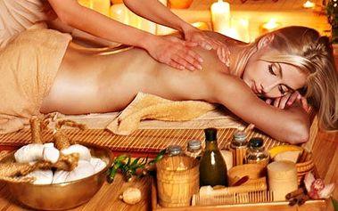 90 minutová masáž zad, šíje a nohou, s využitím bl...