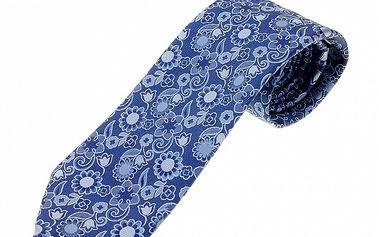 Pánská zářivě modrá kravata Ballantyne s květinovým vzorem