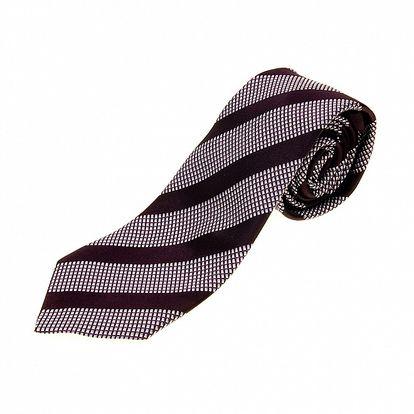 Pánska fialovo-vínová vzorovaná kravata Aquascutum