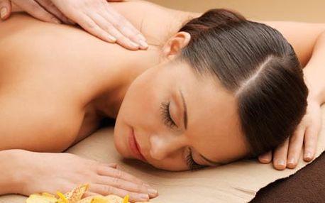 60 minutová masáž zad, šíje a nohou, s využitím sí...