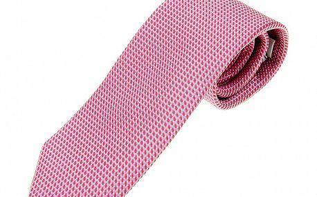 Pánska ružová hodvábna kravata Ballantyne s jemným vzorom