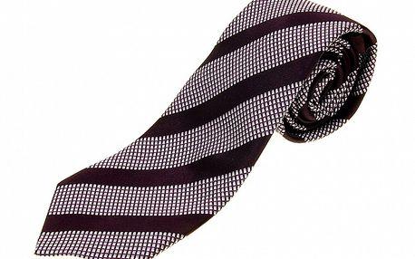Pánská fialovo-vínová vzorovaná kravata Aquascutum