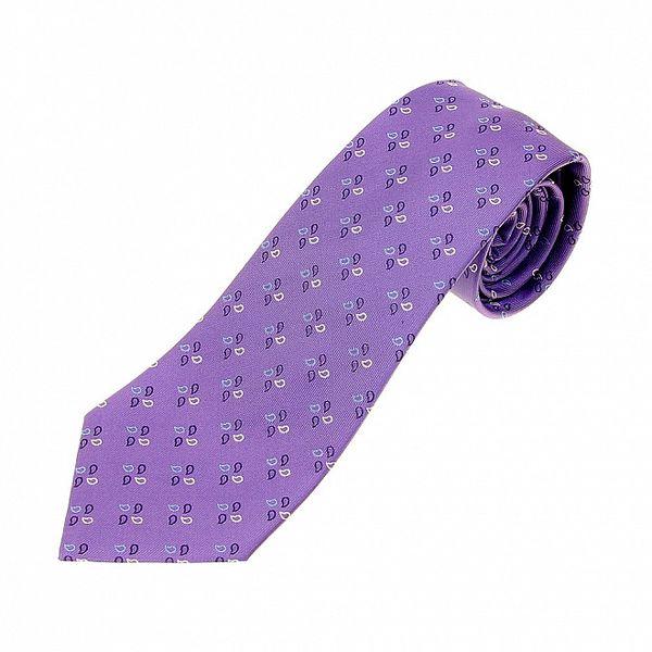 Pánska fialová kravata Les Copains s jemným vzorom