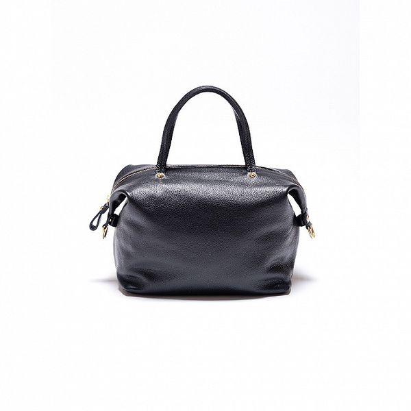 Dámská černá kožená kabelka Roberta Minelli