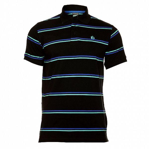 Pánské černé pruhované tričko Fundango