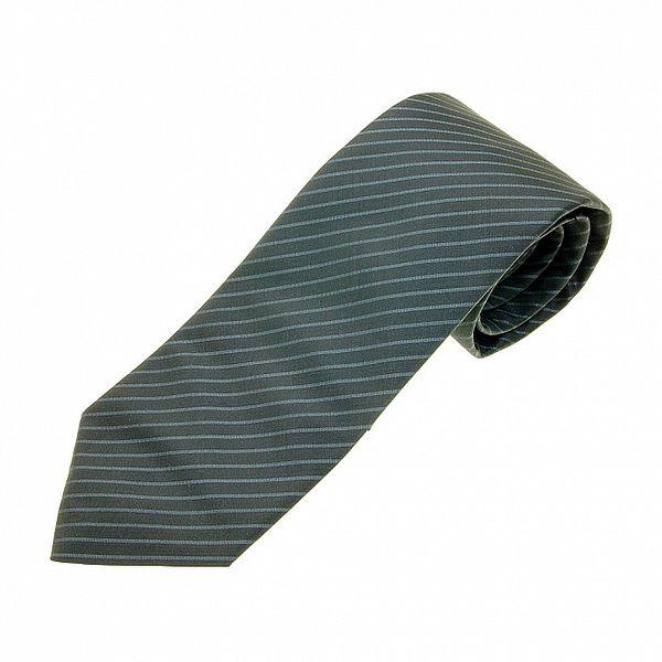 Pánska modrošedá kravata Gianfranco Ferré s prúžkom
