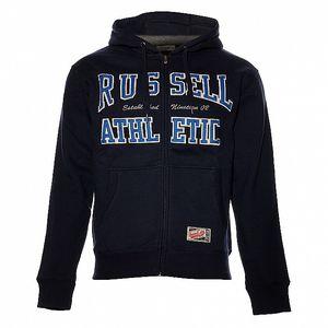 Pánská tmavě modrá mikina Russell Athletic s kapucí