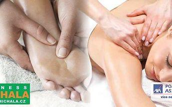 Přijďte do příjemného prostředí s rodinnou atmosférou.Kompletní masáž celého těla za perfektní cenu ve Wellness centru U Michala v Plzni. 90ti minutová uvolňující masáž zad, krku, šíje a nohou – dopřejte si dokonalý relax se slevou 40%!