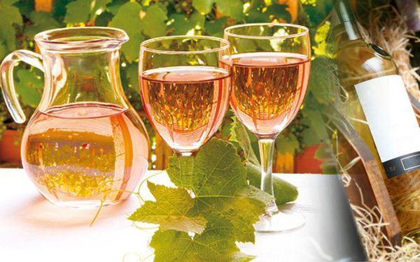 1 l výborného sudového vína Frankovka Rosé