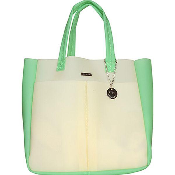 Béžovo-zelená taška