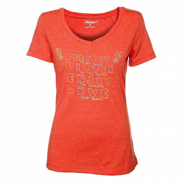 Dámské červené tričko Fundango s potiskem