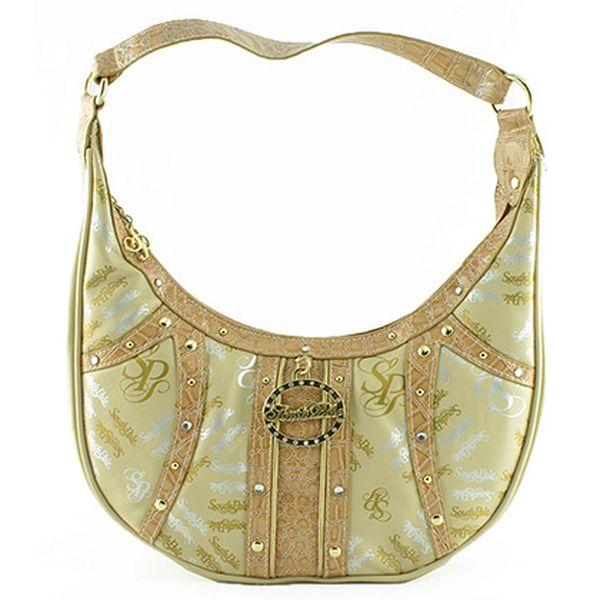 Béžovo-hnědo-zlatá andělská kabelka
