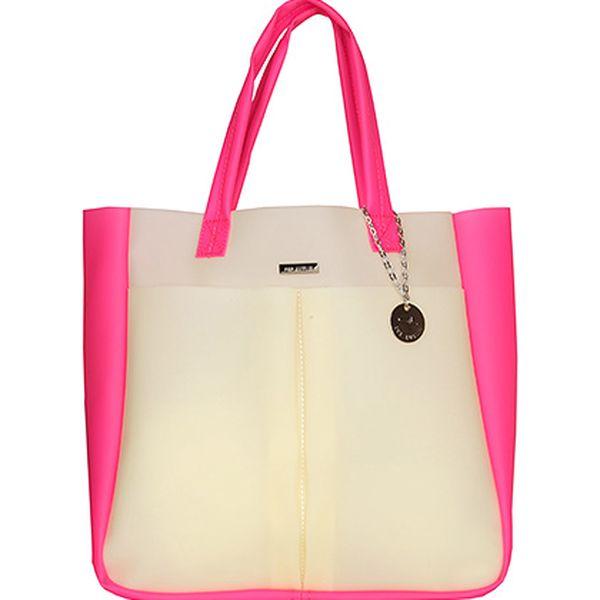Béžovo-růžová taška