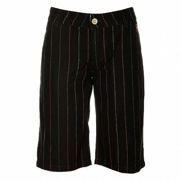 Dámské černé šortky s barevnými proužky Fundango