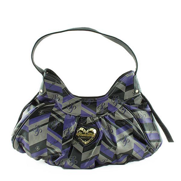 Fialovo-černá kabelka