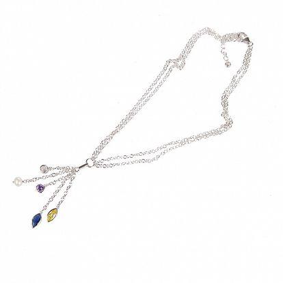Dámsky strieborný náhrdelník Arla s kamienkami