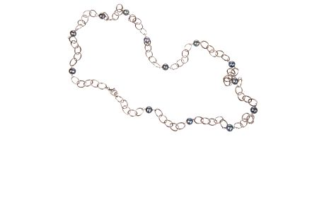 Dámsky strieborný náhrdelník Arla s barevnými perlami