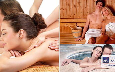 Prohřátí v sauně a vířivé vaně s následnou synchronizovanou masáží pro dva pro sladění energií. Dokonalý relax a odpočinek.Vězměte svého partnera či partnerku a dopřejte si 2 hodiny regenerace s uvolňující masáží zad, krku a šíje.